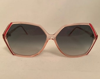 L23S-P Vintage Oversized Modern Boho Sunglasses in Pink, New Old Stock