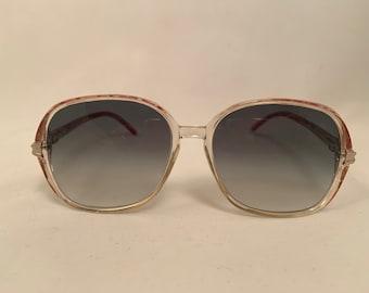 ELIS - Soft Square Brown Crystal Vintage Eyeglasses, New Old Stock, Elizabeth
