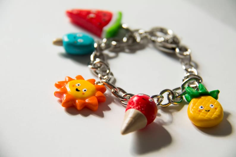 Summer fimo bracelet polymer clay