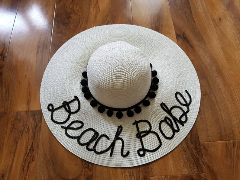 Personalised Straw Hat Bespoke Straw Hat Sequin Hat Do not  9d9134a3d38d