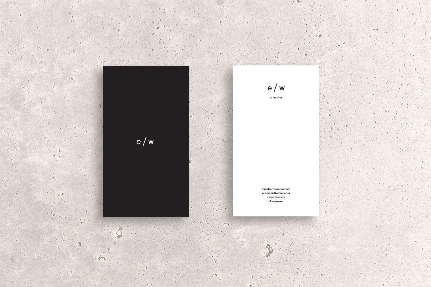 Two-Tone Minimal Logo Double-Sided Business Card Template