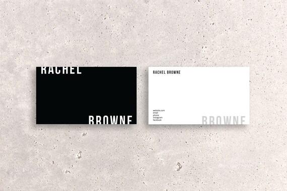 Moderne Doppelseitige Visitenkarte Vorlage Zweifarbig Horizontale Benutzerdefinierte Digitalen Kreativen Design Datei