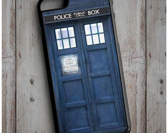 Doctor Who INSPIRED TARDIS Police Box Print Cool New Case Cover for any iPhone