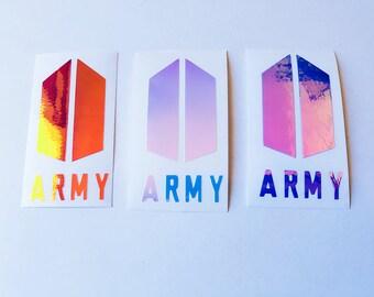 K-POP BTS ARMY Logo Holographic Decal Sticker
