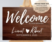 Custom Wood Welcome Wedding Sign Printable, Wood Printable Sign, Rustic Wedding Decor, Any size, Welcome to Our Wedding, Digital Download