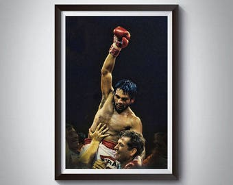 Boxing Fighting Inspired Art Poster Painting Print 4