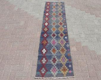 Hallway Runner Area Kilim Rug - Kilim rug Runner, Rugs for living room, new house home Gift, Kitchen kilim rug, Bedroom Rugs, 1.9 x 7.9 ft,
