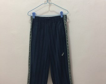 7a859dd0775d7 Rare!! Vintage ASICS Track Pants Nice Design Small Jaspo Size