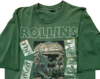 b861f3a3b4 ROLLINS 1993 The Boxed Life Tour Vintage T Shirt Black Flag Rollins Band  Minor Threat