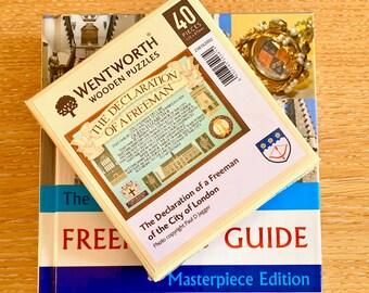 The City of London Freeman's Guide + Declaration of a Freeman wooden jigsaw