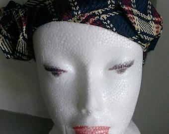 Bandeau cheveux femme chic vintage headband en soie de créateur