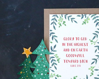 Bible verse christmas card photo card with bible verse etsy bible verse christmas card john 214 greenery holiday card pack card set biblical christmas card bible verse scriptural card m4hsunfo