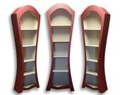 Large curved bookshelf