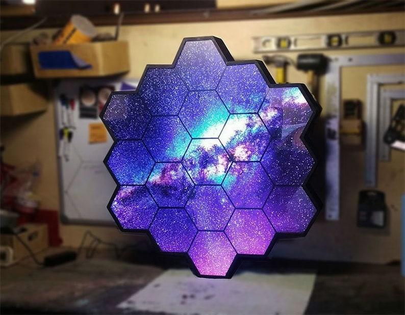 James Webb Telescope themed LED wall art