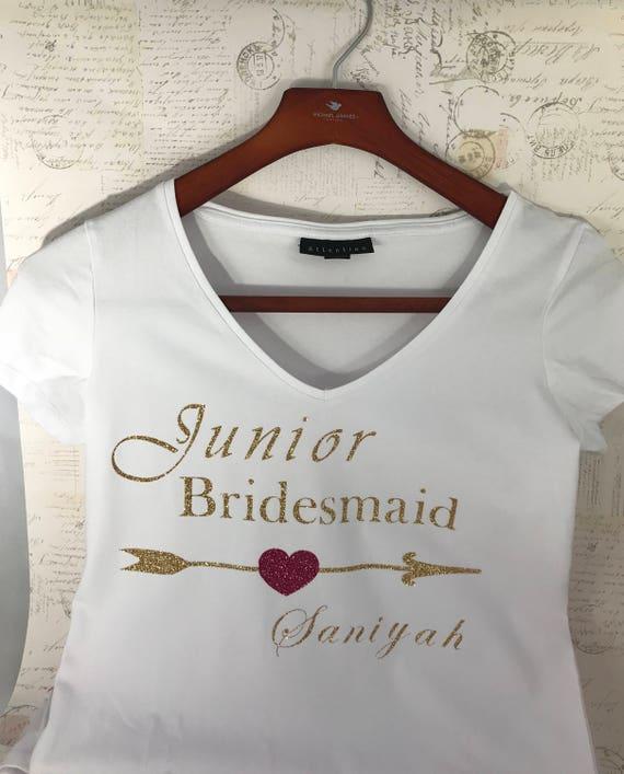 36583918e0e09 Junior Bridesmaid T shirts