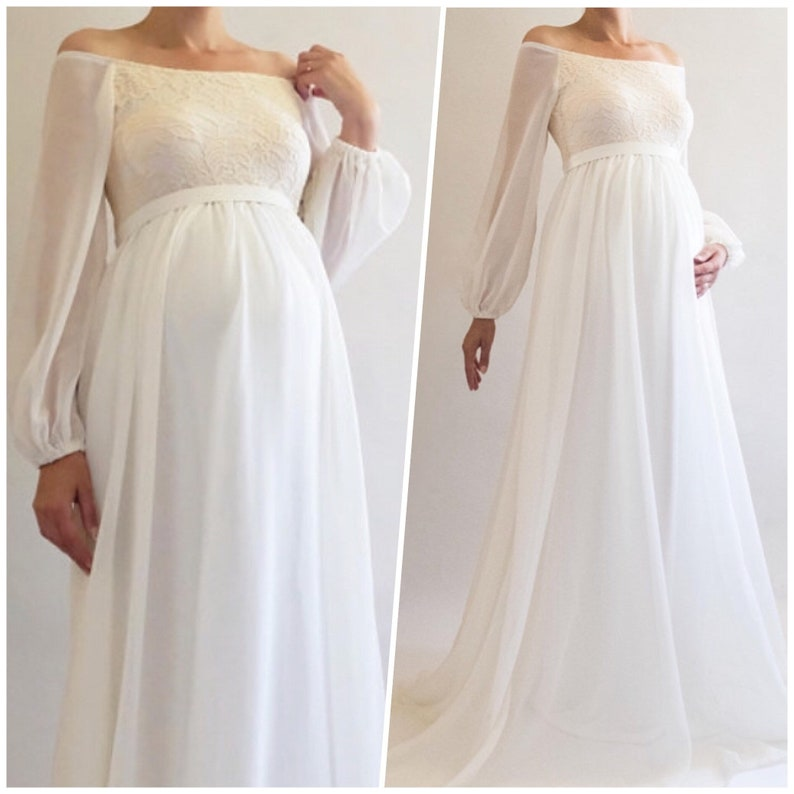 a4cac6d9081 ANNABELLE Bohemian Wedding Maternity Gown Boho Maternity