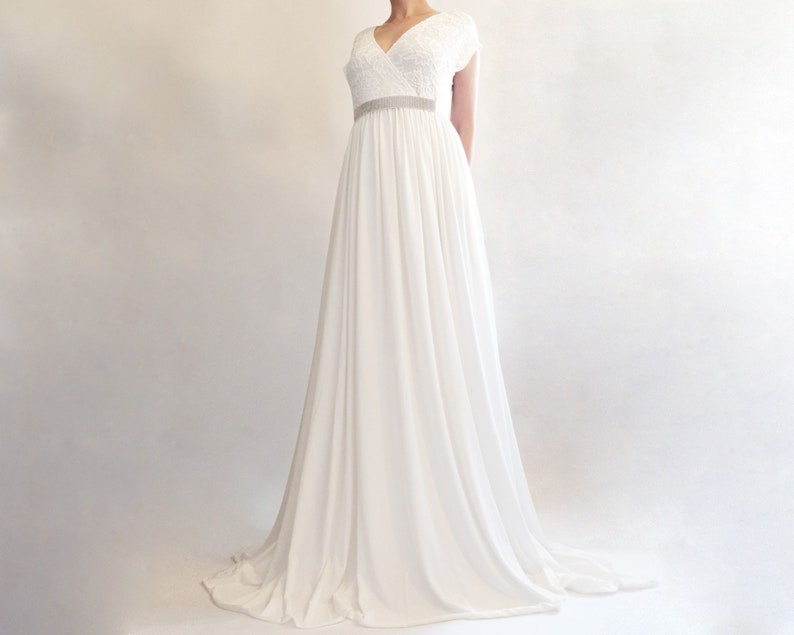Camellia Boho Wedding Dress White Knit Maternity Dress For Etsy