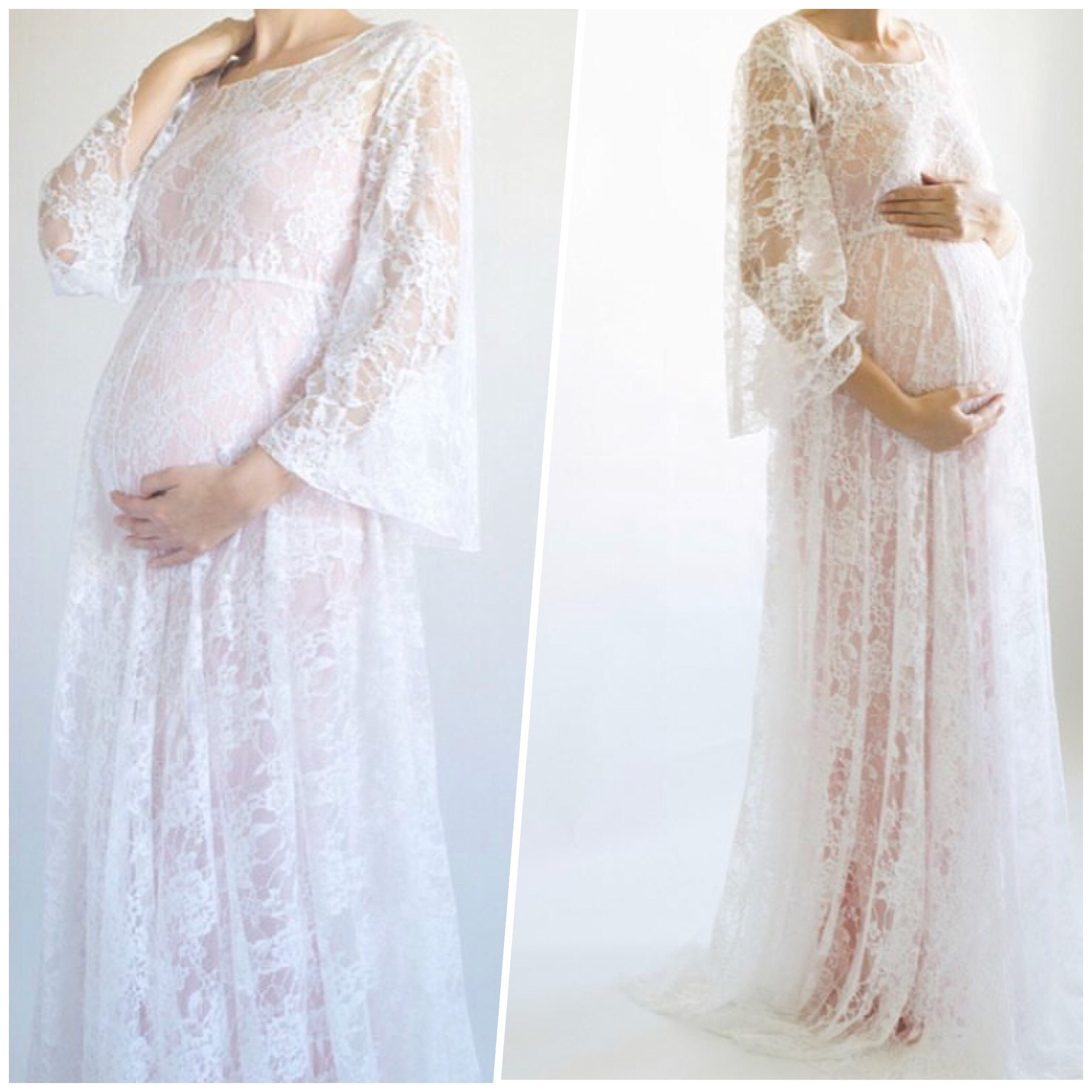 Lace Maternity Dresses For Baby Shower: Maternity Baby Shower Dress / Lace Dress For Baby Shower