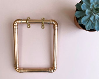 Copper Towel Holder - Copper Pipe - Hand Towel - Handmade - Bespoke - Industrial - Copper Anniversary