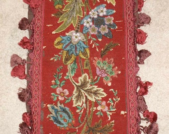 Antique beaded embroidered Panel