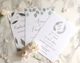 Wedding Stationery Sample Pack // save the dates // floral invitations // botanical wedding // watercolour design //  // modern calligraphy