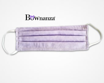 LAVENDER | Fabric Face Mask w/Sewn in Filter | 100% Cotton | Washable & Reusable | Double Layer | Elastic Ear Loops