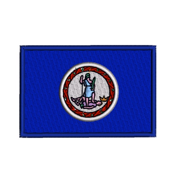 Virginia State Flag Machine Embroidery Design Digital Instant Etsy
