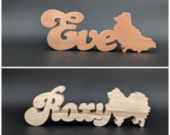 Wooden Pet Names, Personalized Pet Gifts, Cat or Dog Memorial gift, Wooden Pet Signs, Pet Name Plates, pet memory gifts