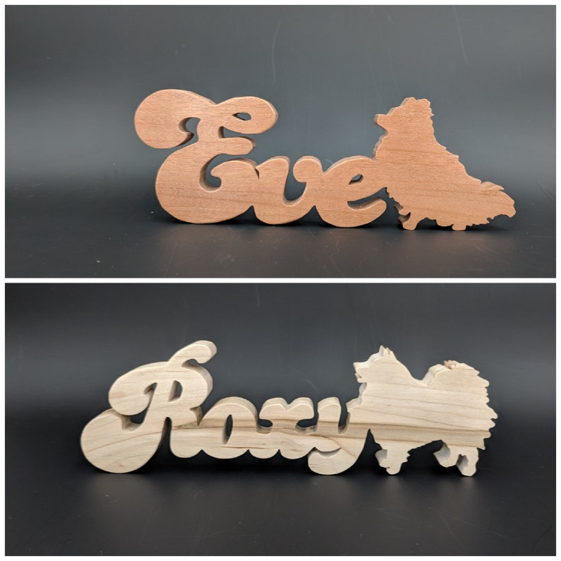 Wooden Pet Names Personalized Pet Gifts Cat or Dog Memorial image 0