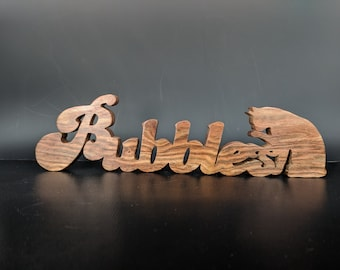 Custom wooden signs, Hardwood Baby Name, Homemade Desk Name Plate, Custom Baby Shower Gift, Personalized Signs
