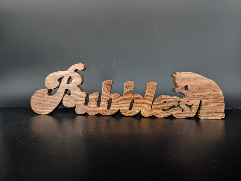 Custom wooden signs Hardwood Baby Name Homemade Desk Name image 0