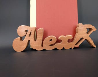 wooden names, baby shower, unique gifts, handmade gifts, personalized name plates, custom wooden signs, desk accessories, wedding gift, sign