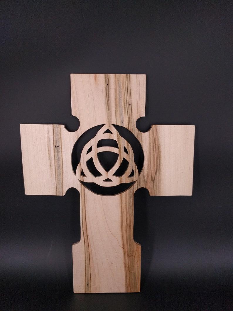 wooden cross Celtic symbols Celtic cross custom homemade image 0