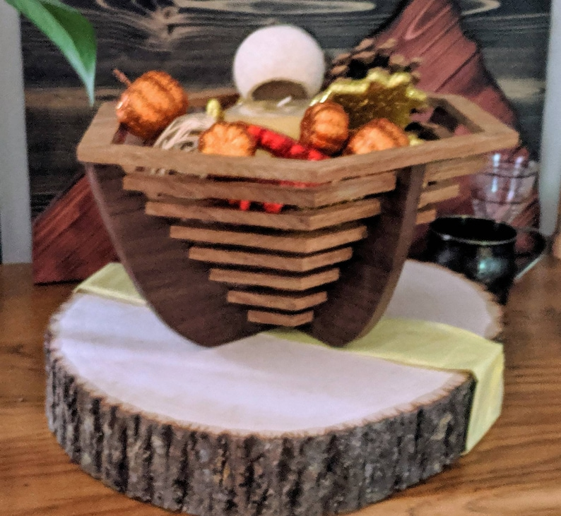 Homemade Wooden Basket handcrafted gifts custom wooden image 0