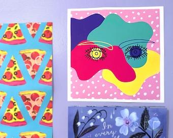 "Eye Doodle - 12 x 12"" Print"
