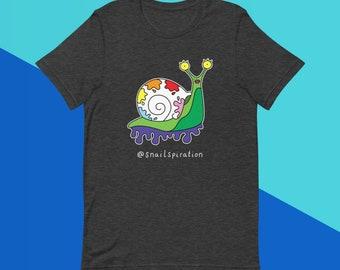 Sheila Snail - Black or Gray - Short-Sleeve Unisex T-Shirt