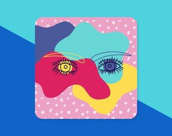 """Eye Doodle Sticker - 3"""" - Laptop Sticker"""