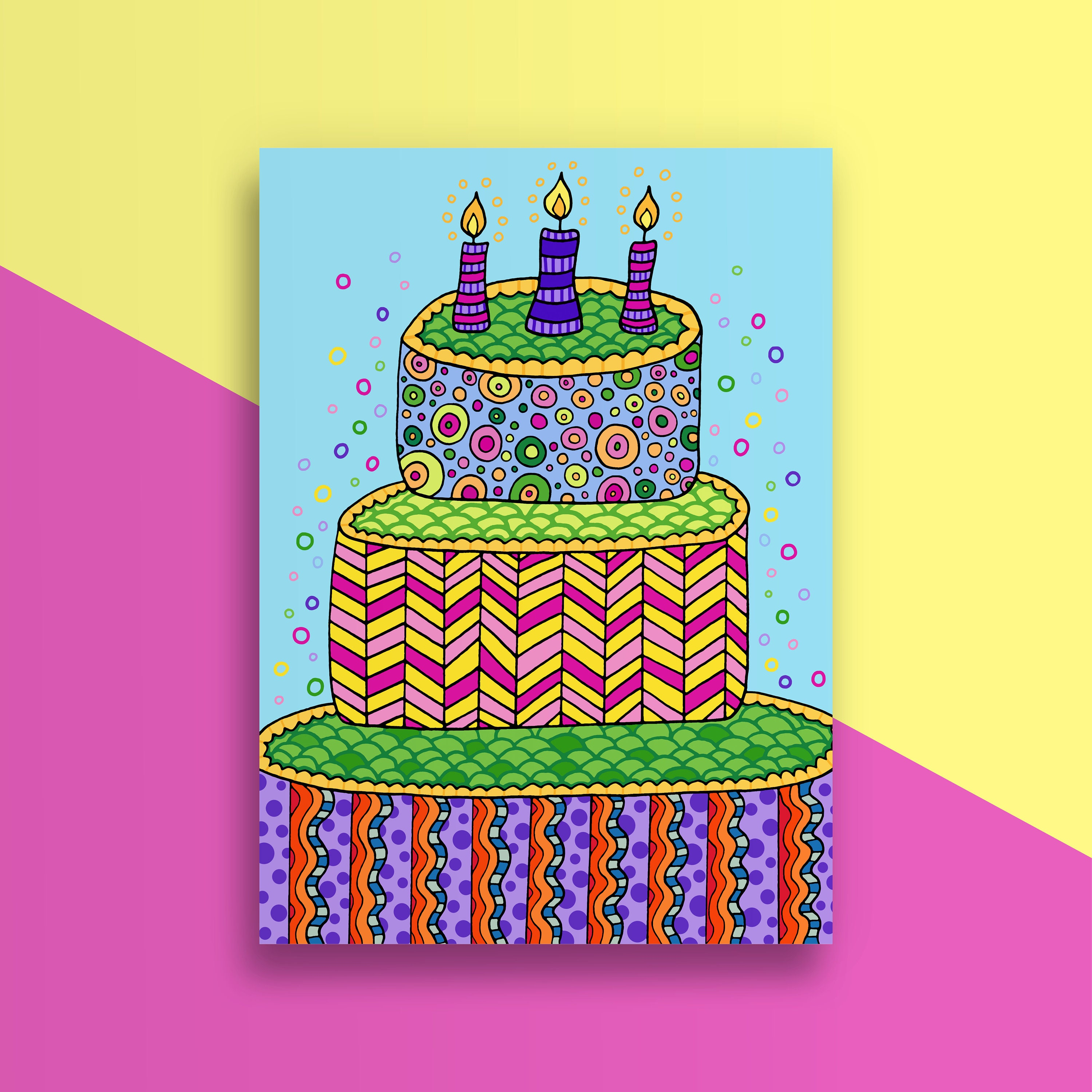 LIMITED EDITION Birthday Cake Card Happy