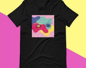 Eye Doodle - Black - Short-Sleeve Unisex T-Shirt
