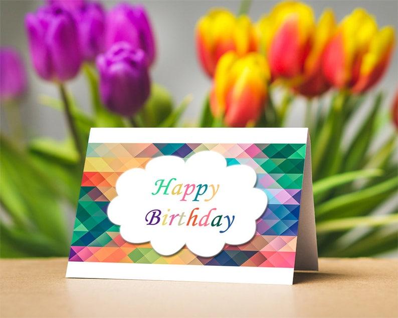 Printable Happy Birthday Card Digital Download