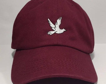 25a1625537fad Dove Embroidered Unstructured 100% Cotton Polo Adjustable Baseball cap dad  hat