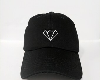 dc7fe691911b2 Diamond Embroidered Unstructured Cotton Polo Baseball cap dad hat Adjustable