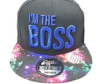 I'm The Boss Snapback Baseball Cap Hip Hop era
