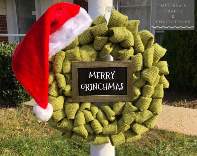 Featured listing image: Grinch Inspired Wreath