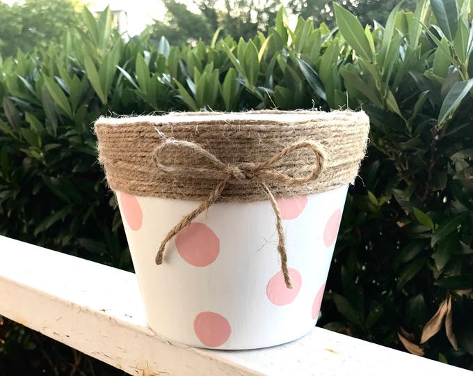 Featured listing image: Hand Painted Terra-Cotta Pot