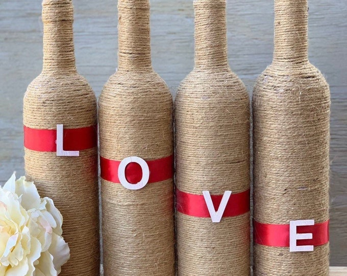 Featured listing image: LOVE Twine Bottles