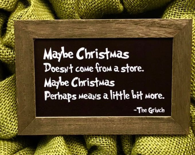 Featured listing image: Grinch Sign