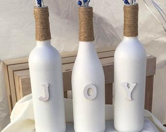 Bouteilles de vin de la joie