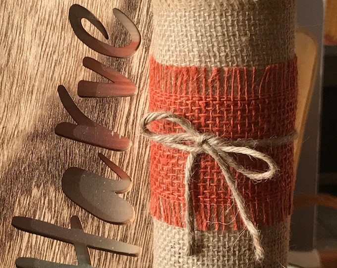 Featured listing image: Burlap Candle