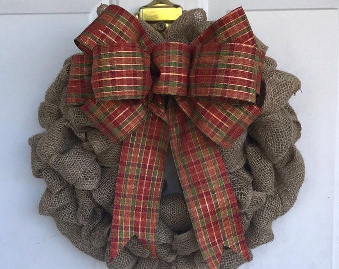 Featured listing image: Harvest Burlap Wreath